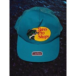 Bass Pro Shop Mesh Teal Trucker Hat
